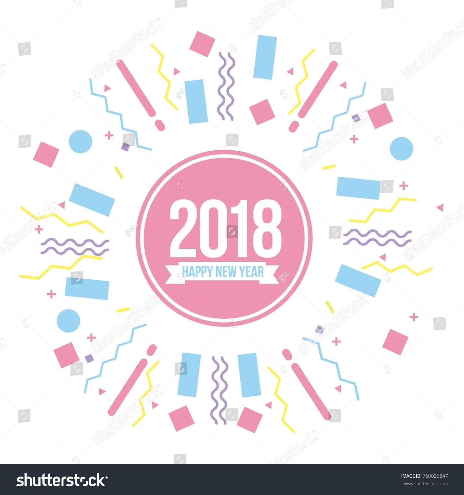 Happy New Year 2018 Poster Greeting Stock Vector (Royalty Free ...