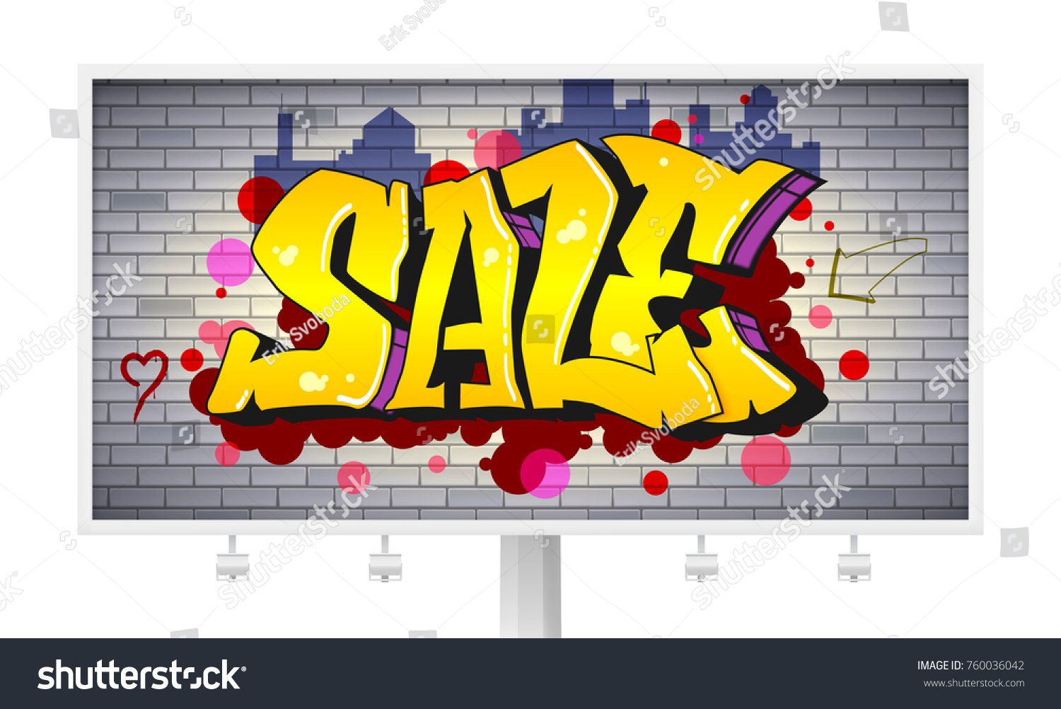 Sale Lettering Hiphop Graffiti Style Urban Stock Vector 760036042 ...