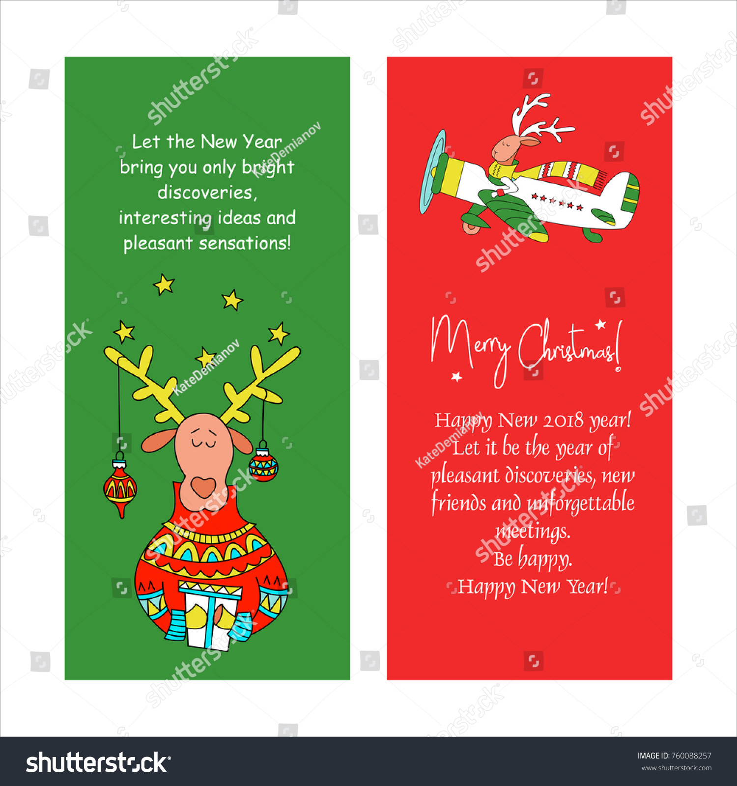 Merry christmas greeting card congratulations your stock vector merry christmas greeting card with congratulations to your family and friends reindeer with gift kristyandbryce Image collections
