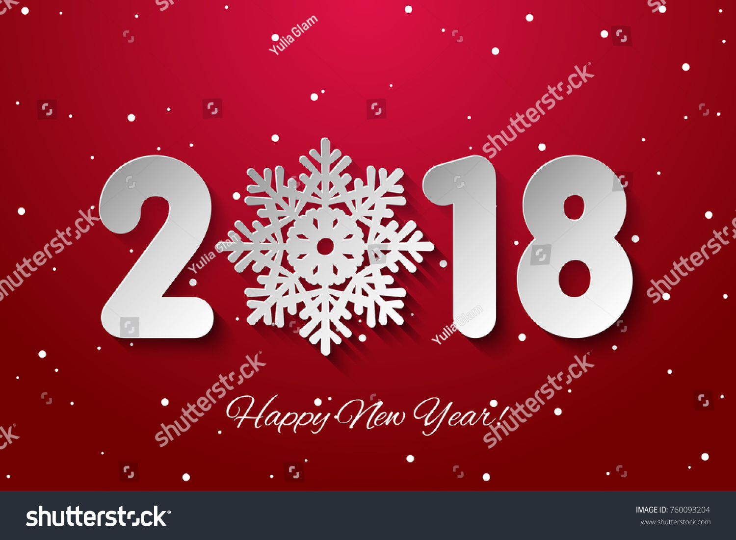 vector happy new year 2018 background with paper cuttings
