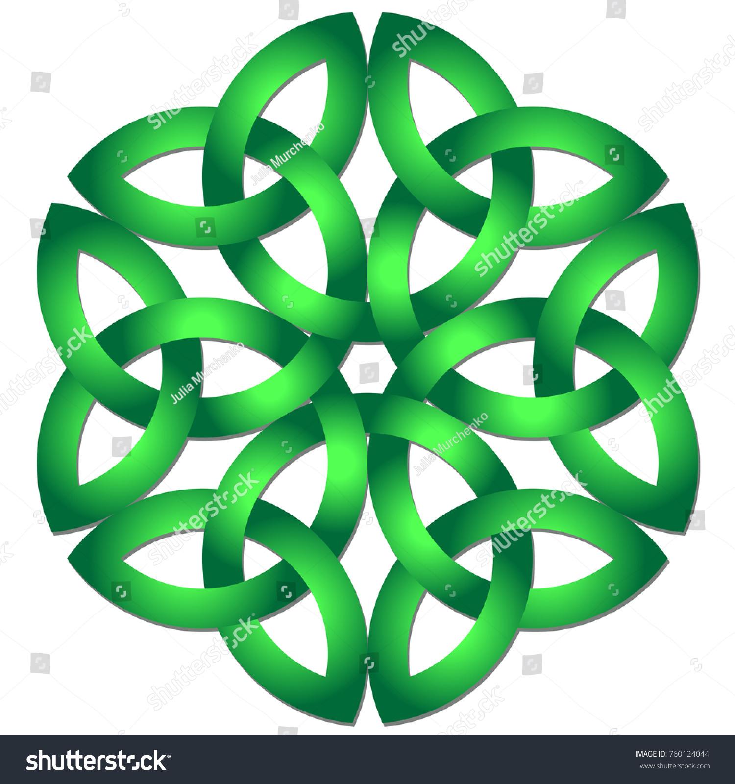 Celtic shamrock knot circle symbol ireland stock vector 760124044 celtic shamrock knot in circle symbol of ireland biocorpaavc Gallery