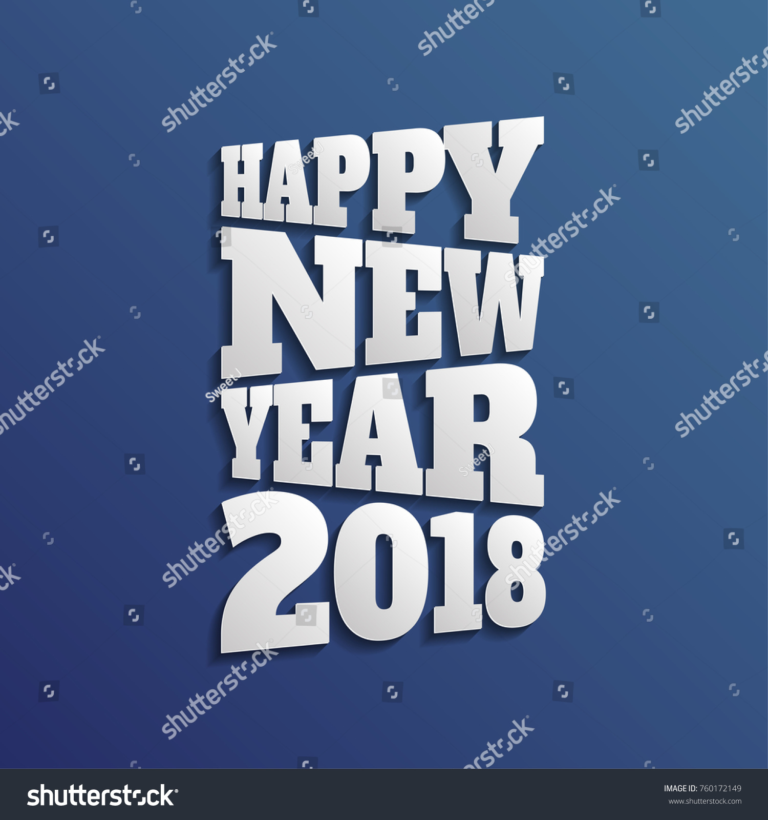 Abstract Happy New Year Text On Special Background Ez Canvas