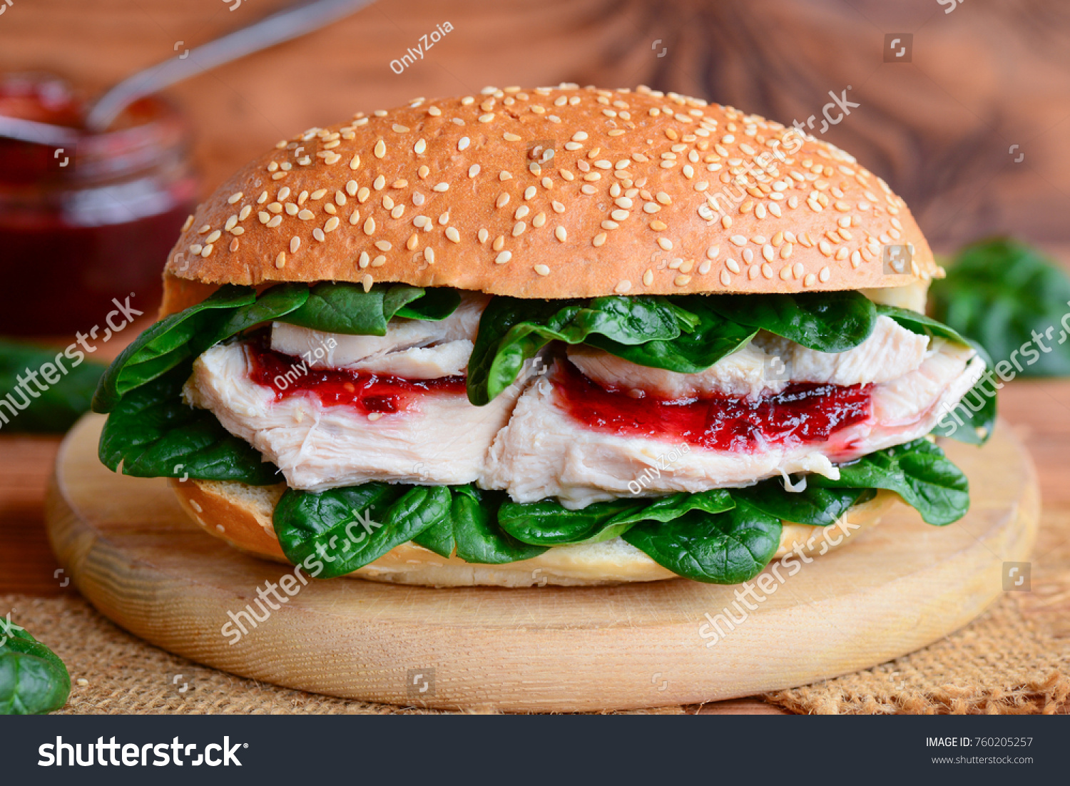 Crispy Chicken Fillet Burger Recipe Simple Stock Photo Edit Now 760205257