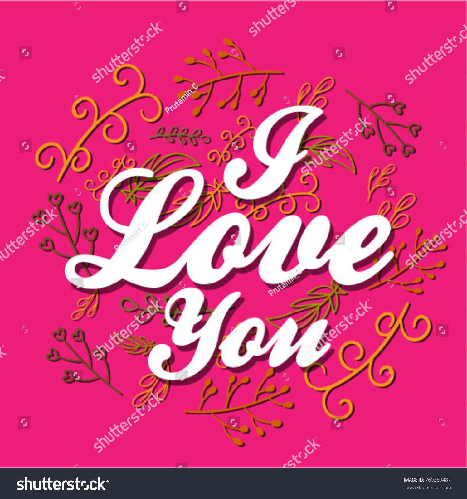 Love you beautiful greeting card poster stock vector 760269487 i love you beautiful greeting card poster with calligraphy text kristyandbryce Gallery