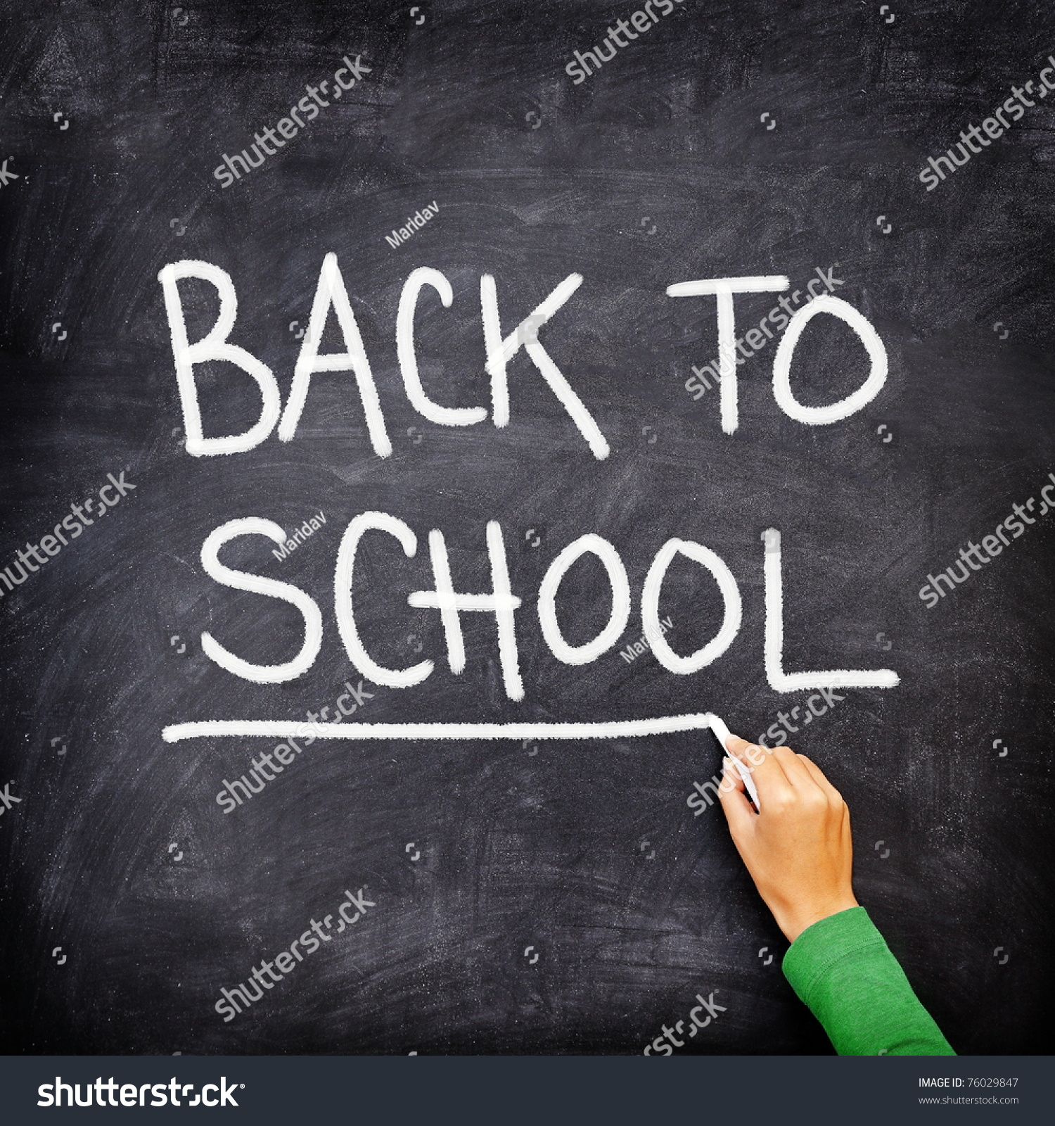 Back School Blackboard Chalkboard Teacher Writing Stock ...