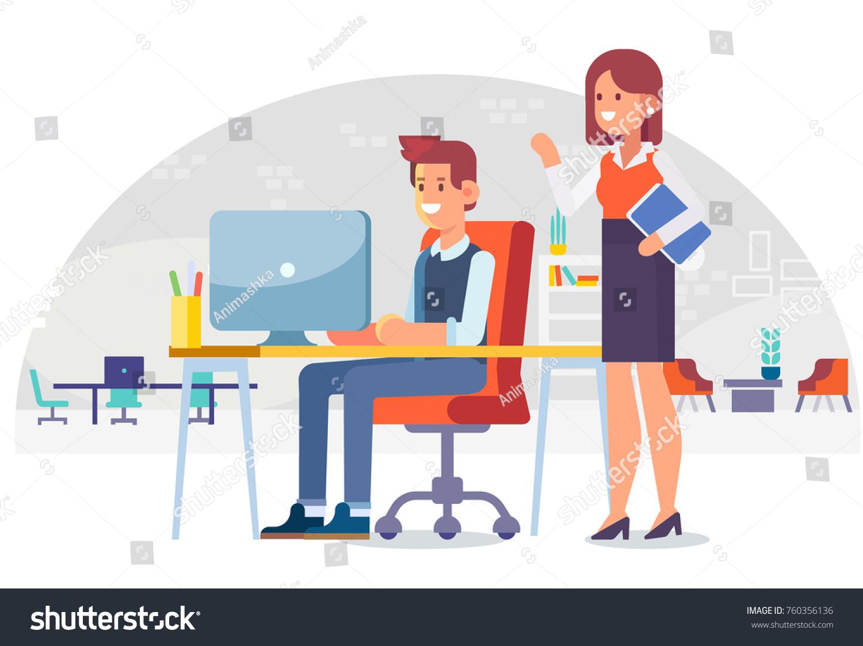 24+ Office Worker Cartoon Office Work Wallpapers