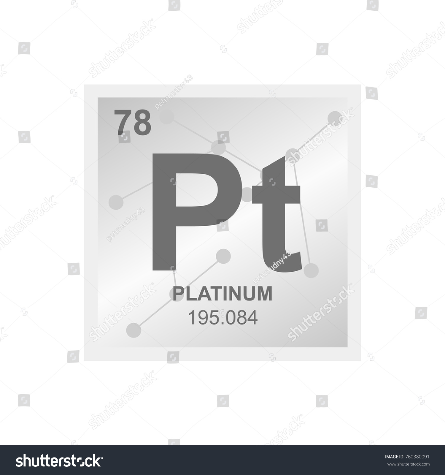 Vector symbol platinum periodic table elements stock vector vector symbol of platinum from the periodic table of the elements on the background from connected gamestrikefo Gallery