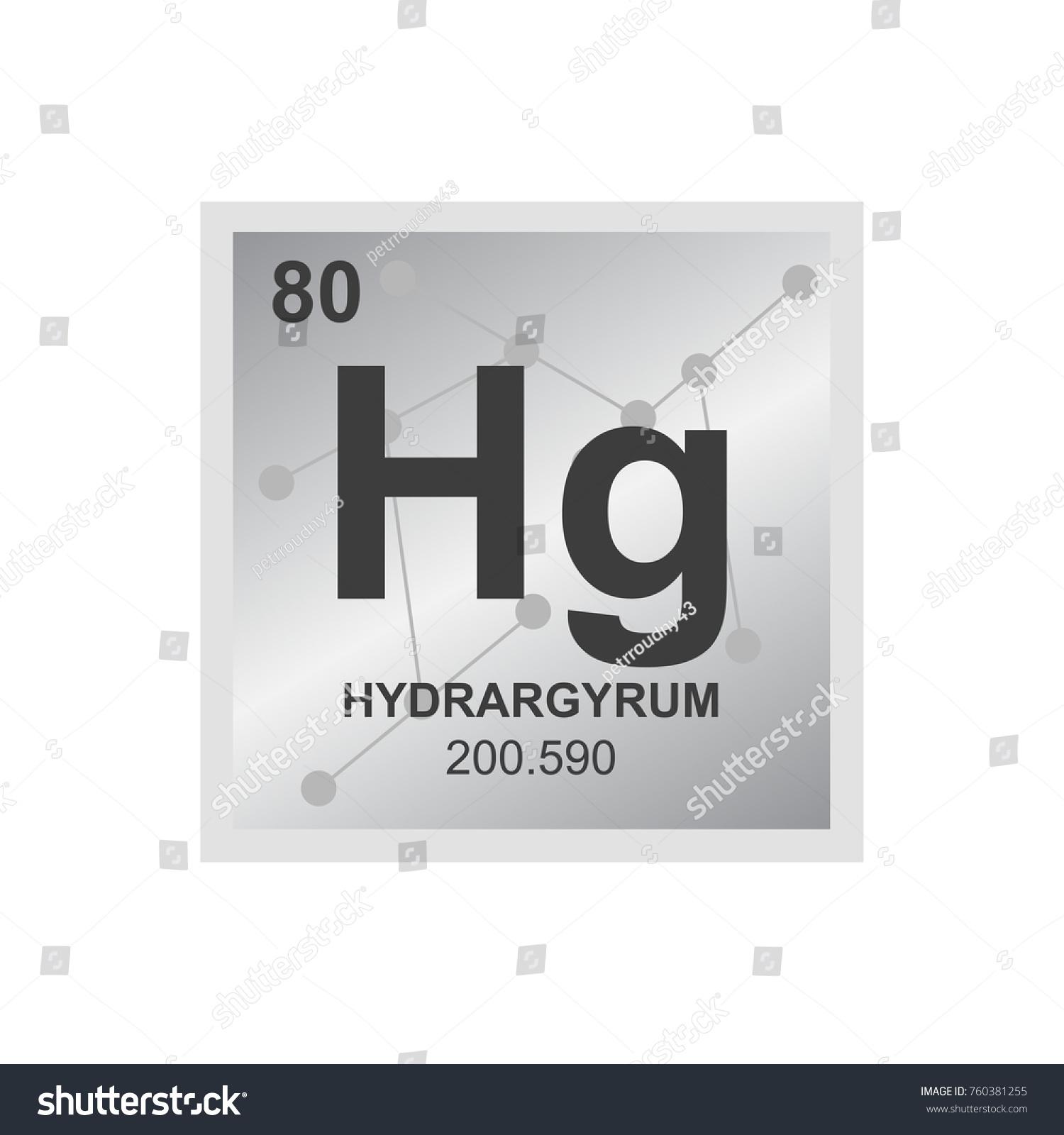Vector Symbol Mercury Periodic Table Elements