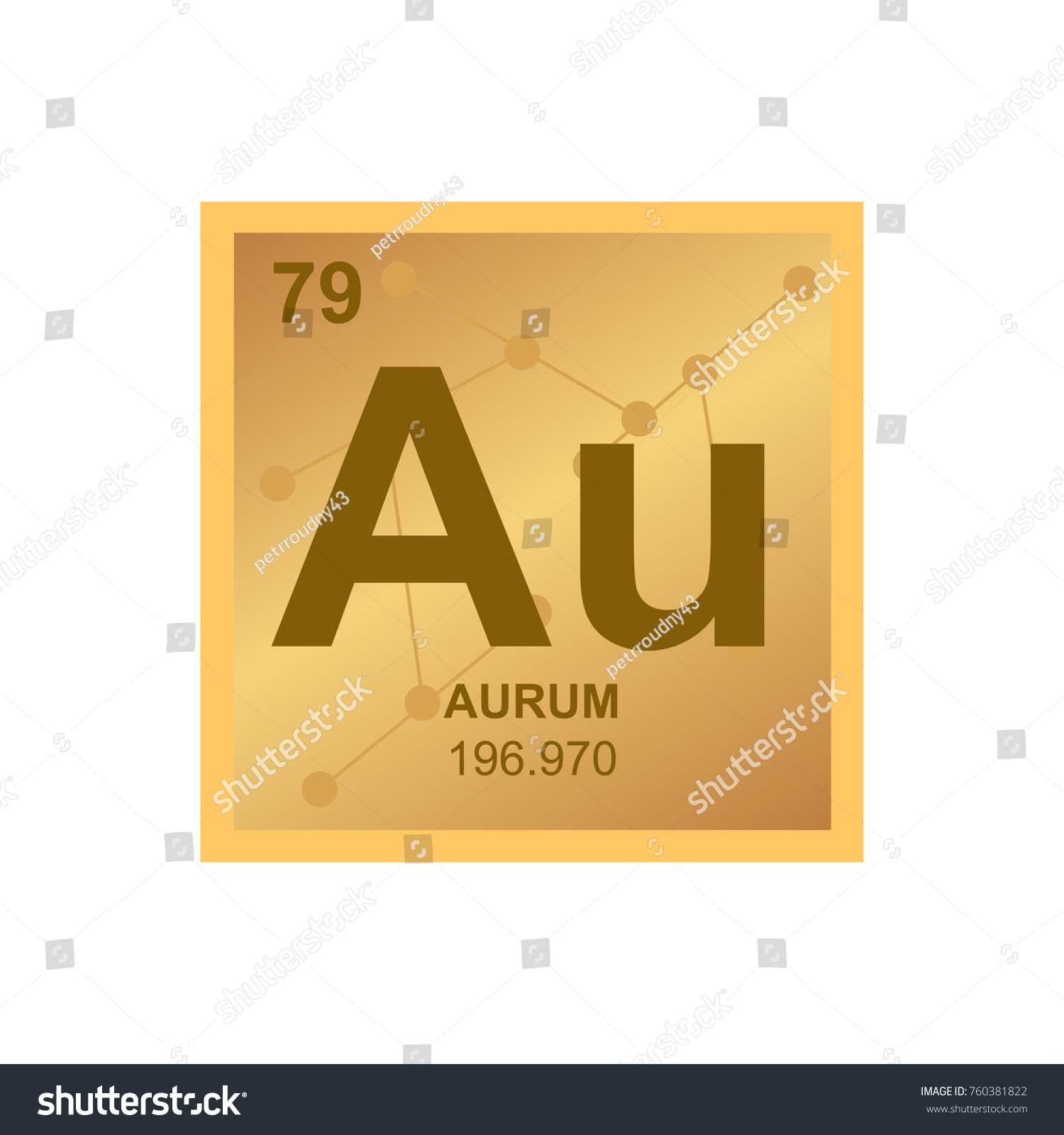 Vector symbol gold periodic table elements stock vector 760381822 vector symbol of gold from the periodic table of the elements on the background from connected gamestrikefo Image collections