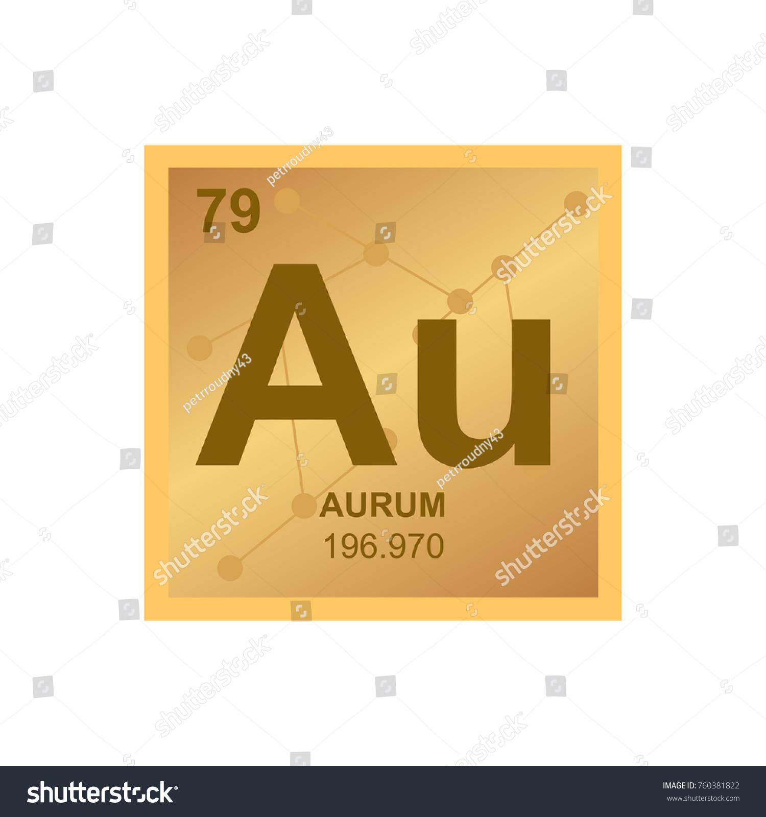 Vector symbol gold periodic table elements stock vector 760381822 vector symbol of gold from the periodic table of the elements on the background from connected biocorpaavc