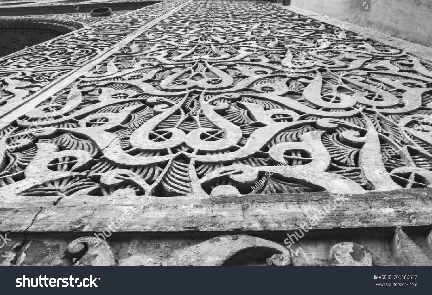 Muslim artistic carvings on stone morocco stock photo edit now
