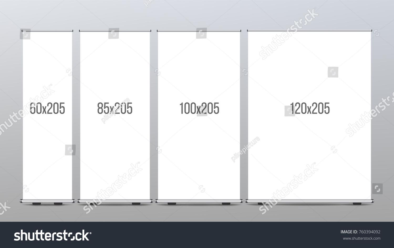 roll banner stand pop flip chart stock illustration 760394092