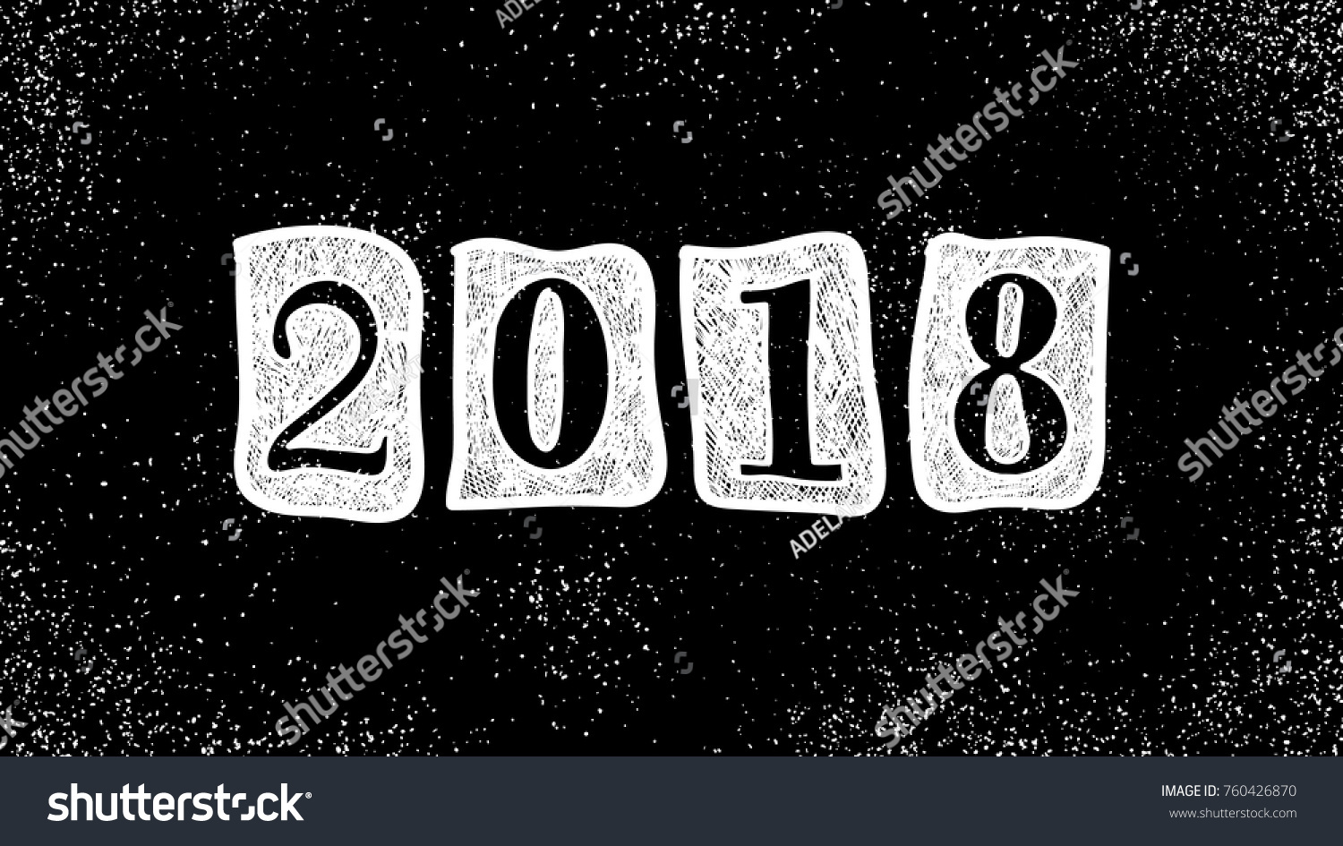 new year 2018 doodle sign winter holiday abstract background christmas wallpaper celebration banner