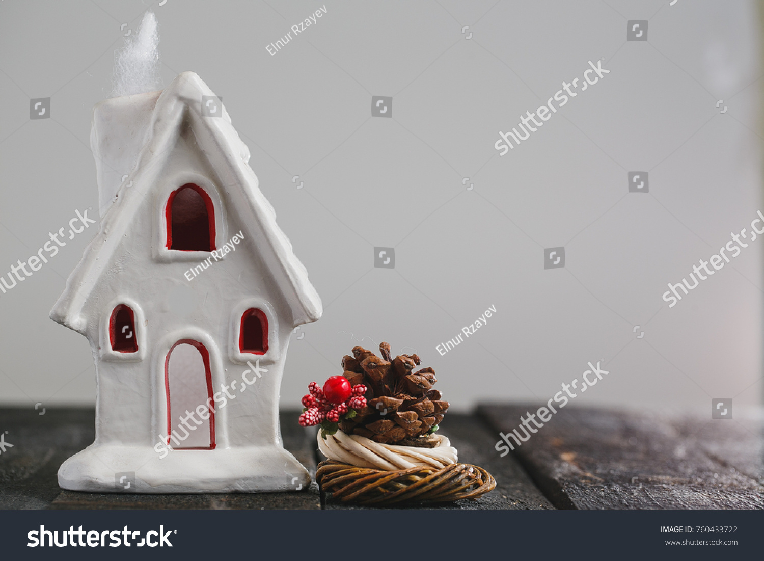 tiny christmas houses christmas background with white ceramic house snowflakes - Ceramic Christmas Houses