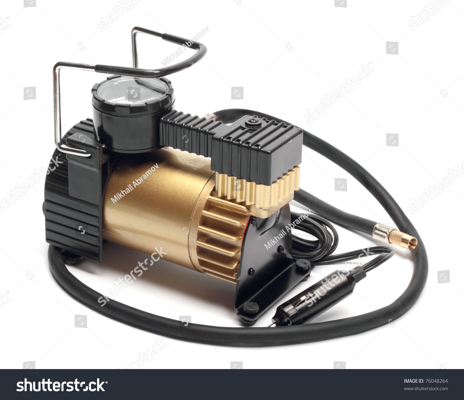 Car Air Compressor Manometer Isolated On Stock Photo 76048264 ...