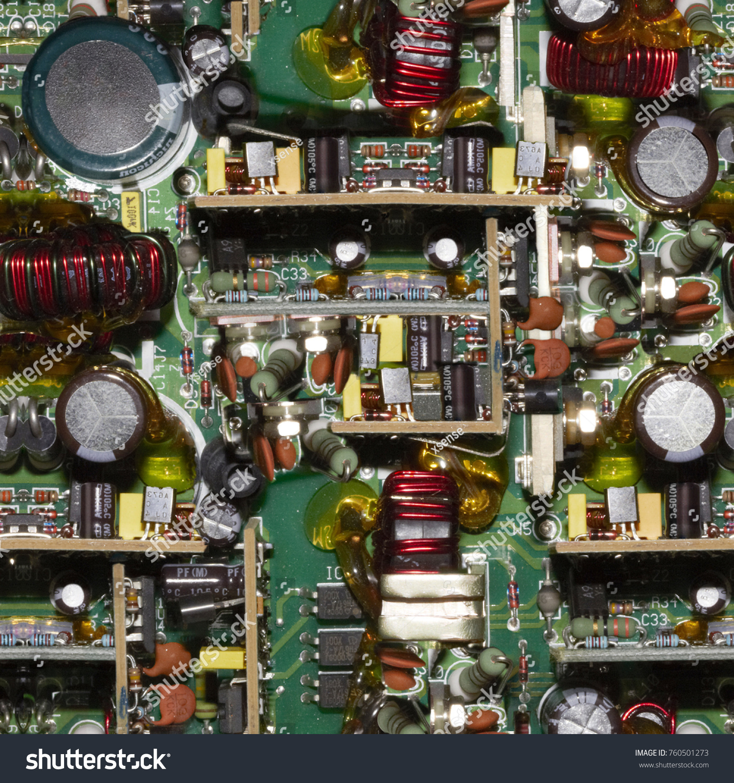 Old Circuit Board Electronic Components Stock Photo Edit Now Electronics Royalty Free Image With
