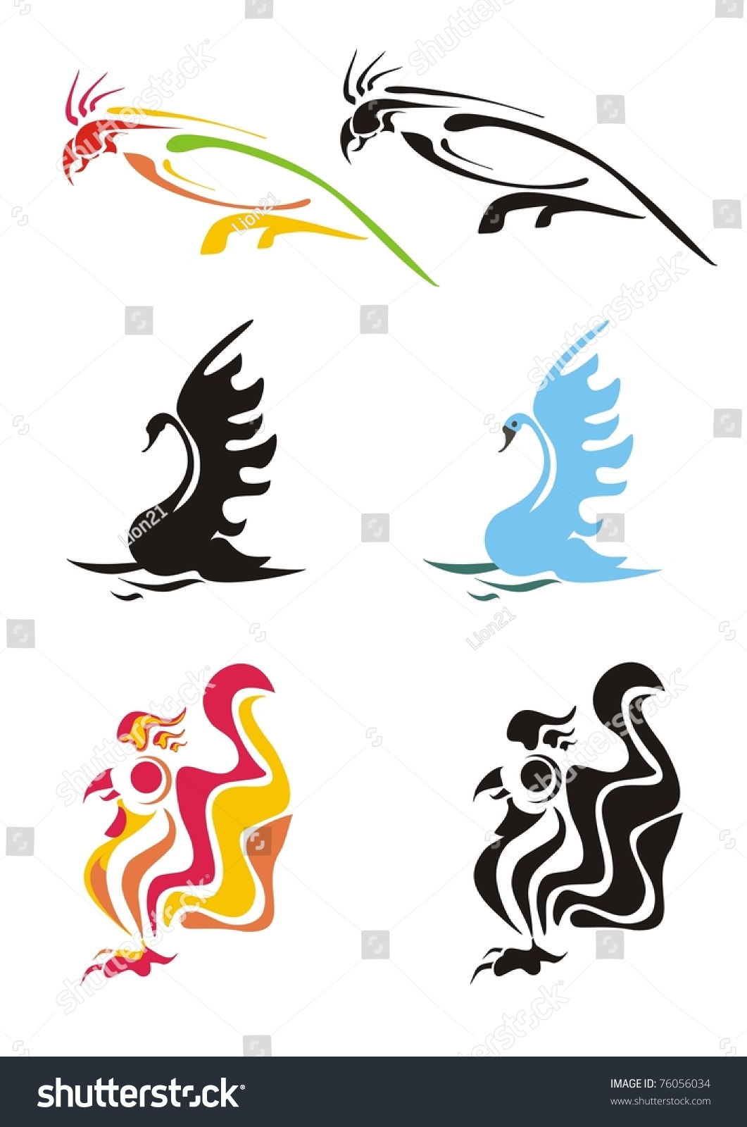 Dragon vector sign stock vector 313643336 shutterstock - Stylization Of A Parrot Swan And Cock Black And Color Vector Images Of Birds