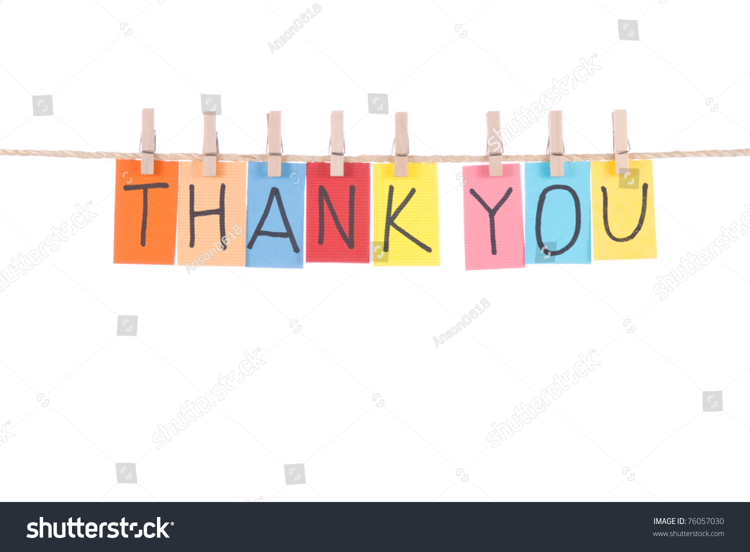 word thank you card