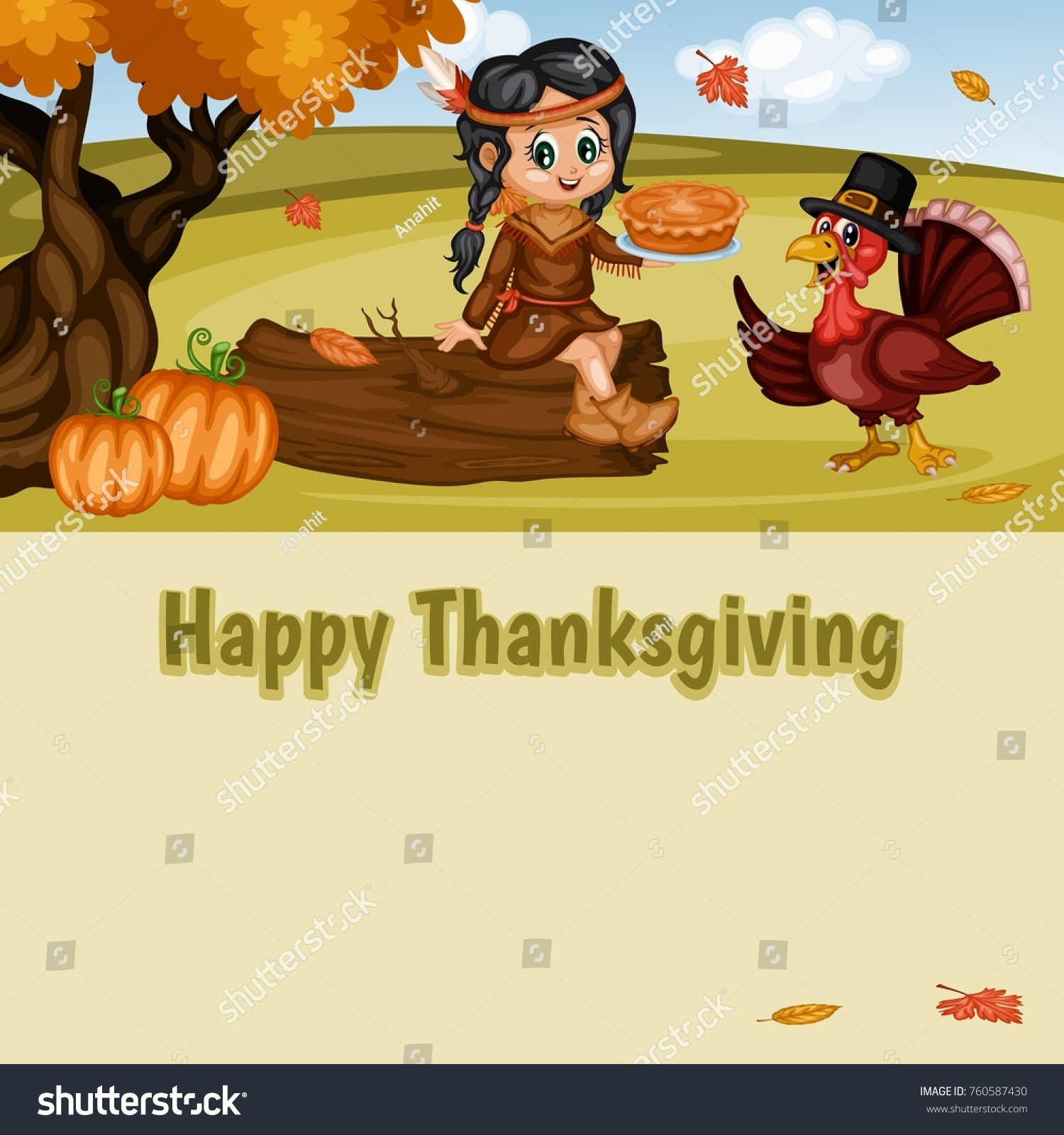 Happy thanksgiving greeting card vector illustration stock vector happy thanksgiving greeting card vector illustration stock vector 760587430 shutterstock m4hsunfo