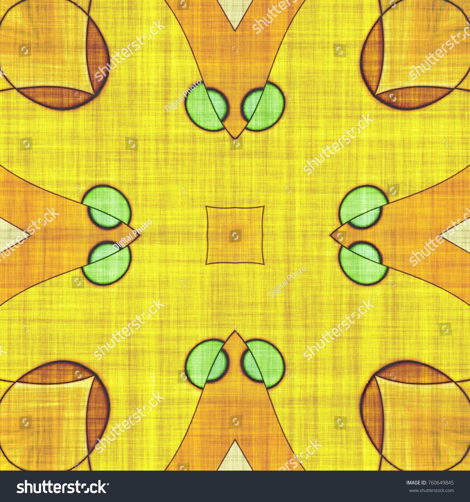 Mandala- artistic illustration. Abstract kaleidoscope- art decor ...