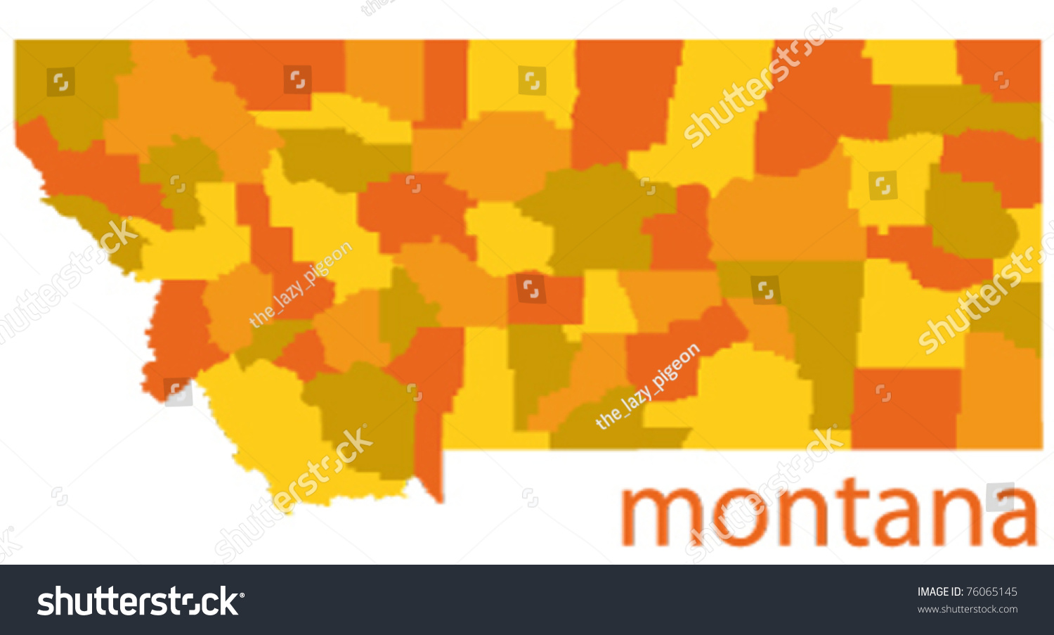 Detailed Map Of Montana StateUsa Stock Vector Illustration - Montana state usa map