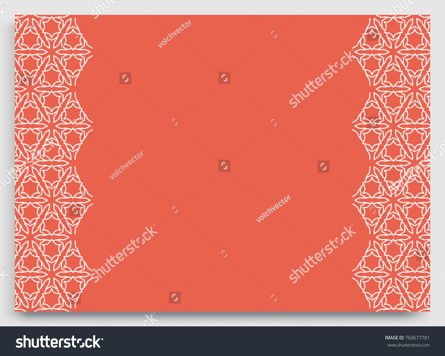 Greeting Card Wedding Invitation Template Lace Stock Vector ...