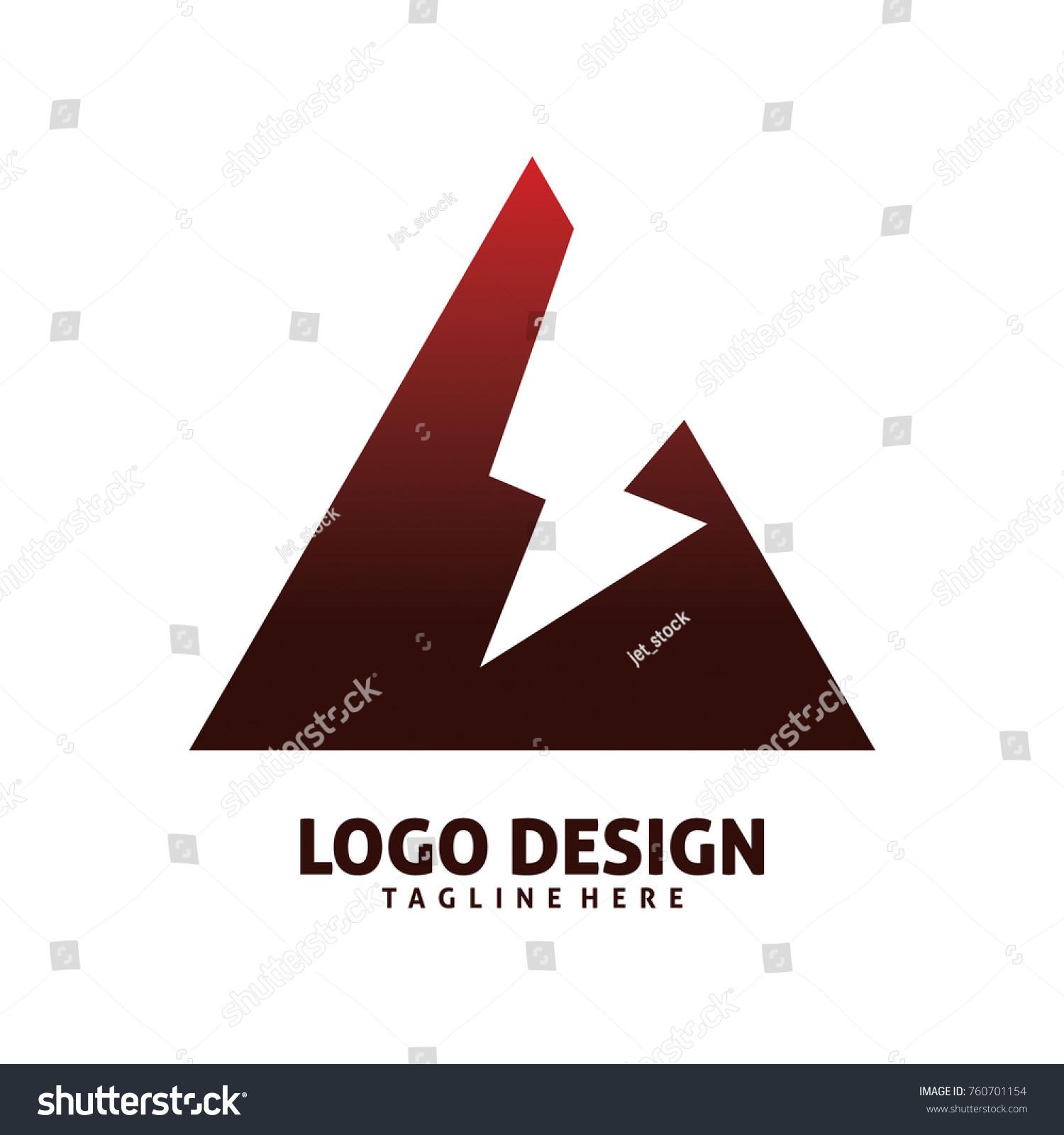 Triangle Lighting Logo Design