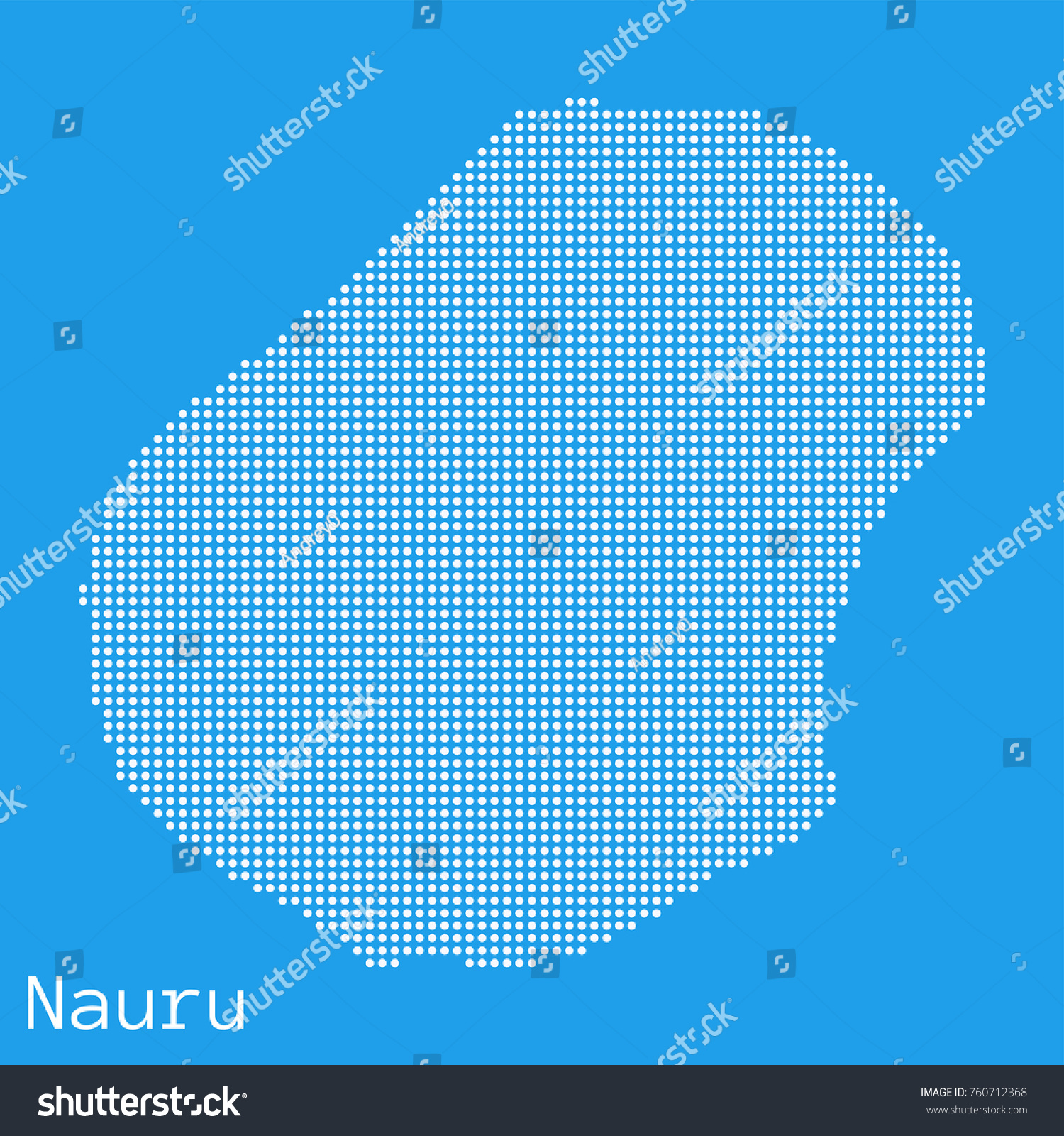 Vector Nauru Map Silhouette Dotted On Stock Vector - Nauru map vector
