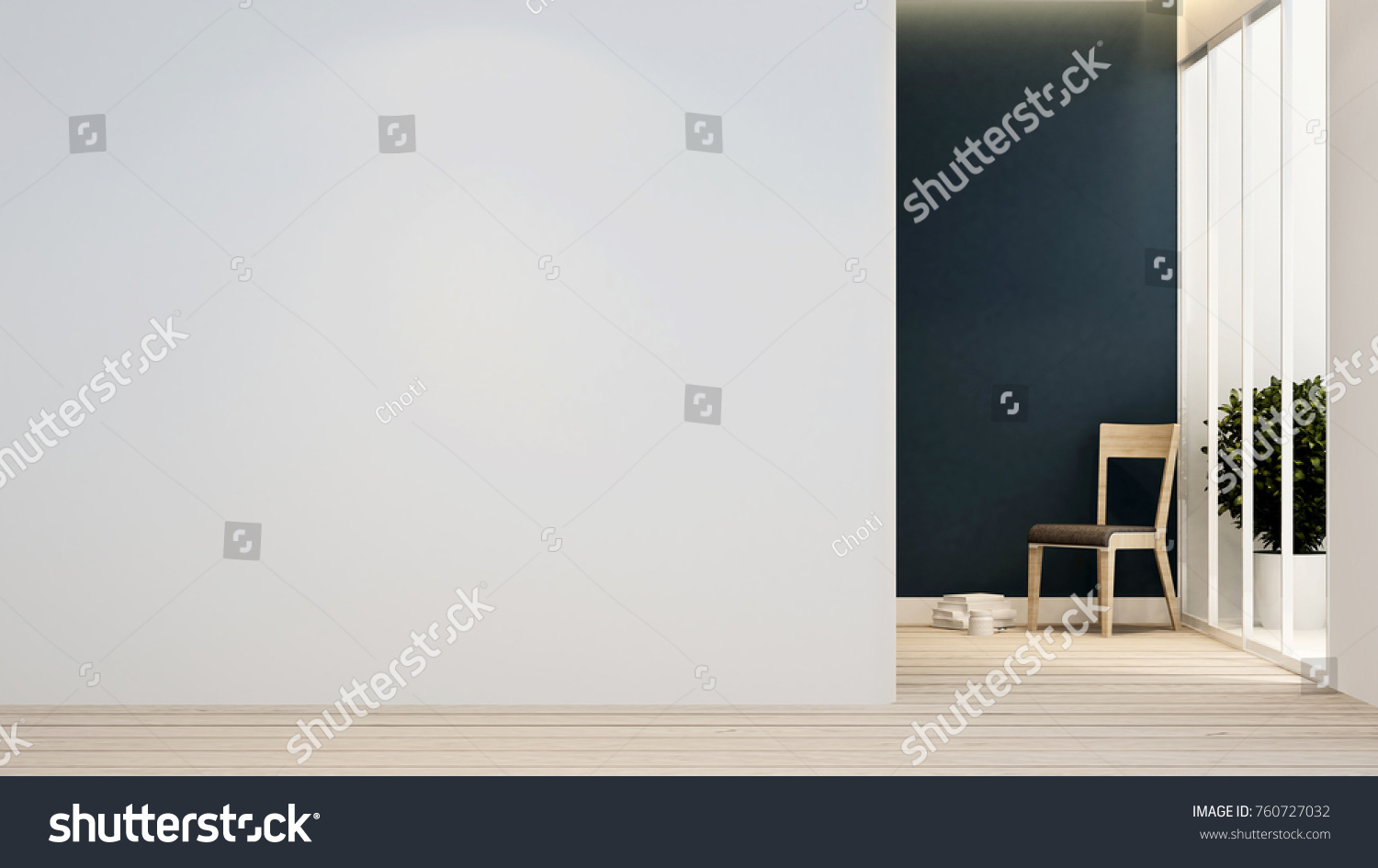Living Room Empty Space Artwork Apartment Stock Illustration ...