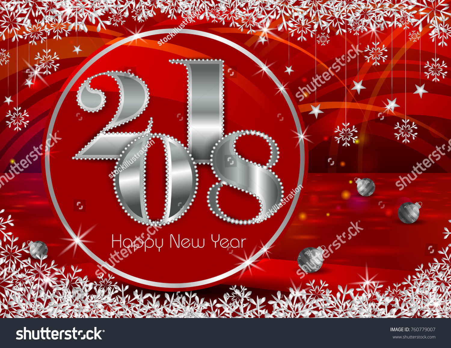 Happy new year 2018 wishes greeting stock vector royalty free happy new year 2018 wishes greeting card template background design in vector m4hsunfo