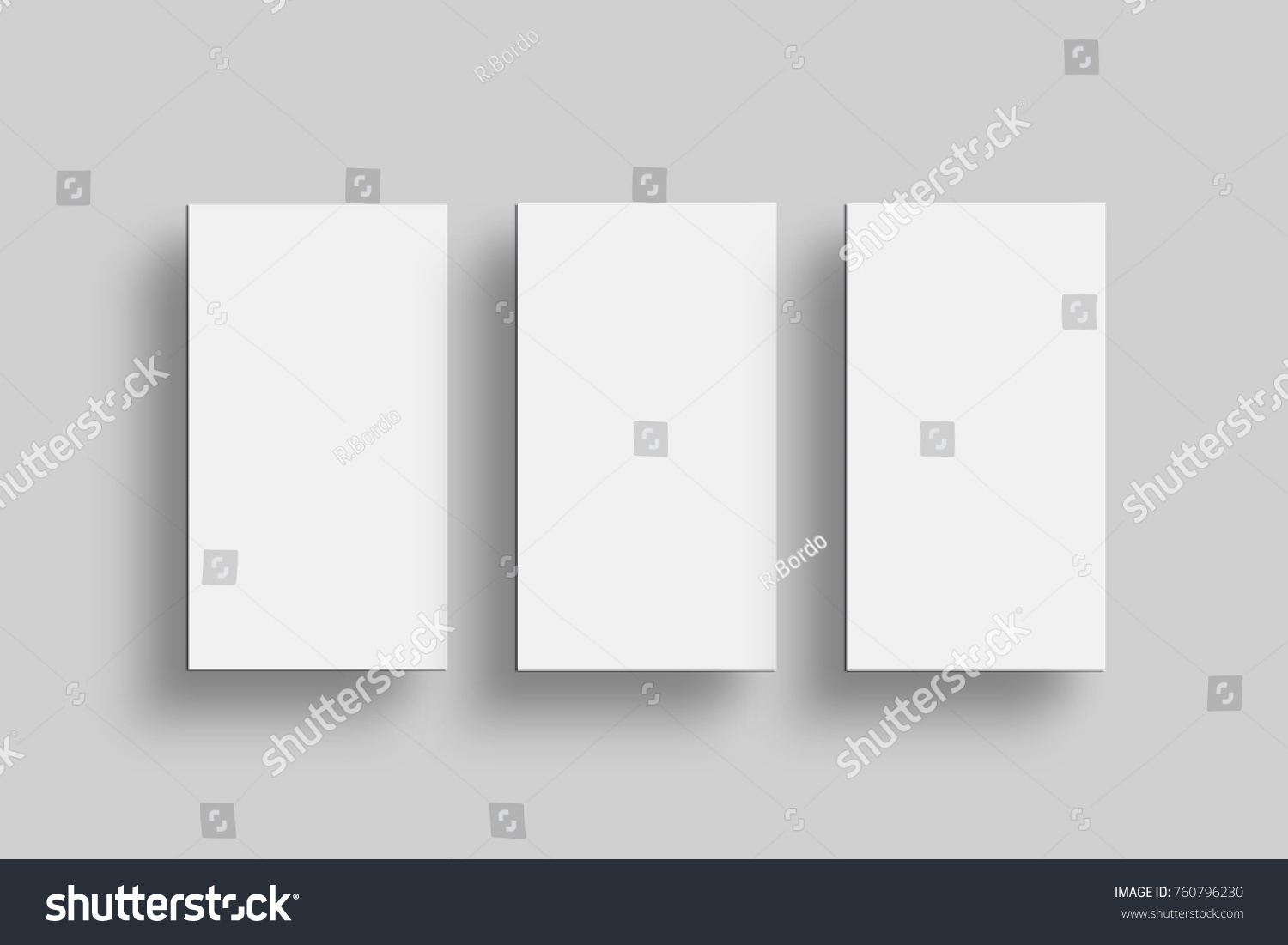 Opened And Closed Blank Greeting Card Mockup Top View On Leaflet Or