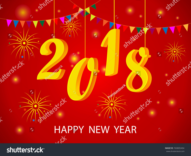 Vector design happy new year 2018 stock vector 760805494 vector design of happy new year 2018 seasons greeting background kristyandbryce Image collections