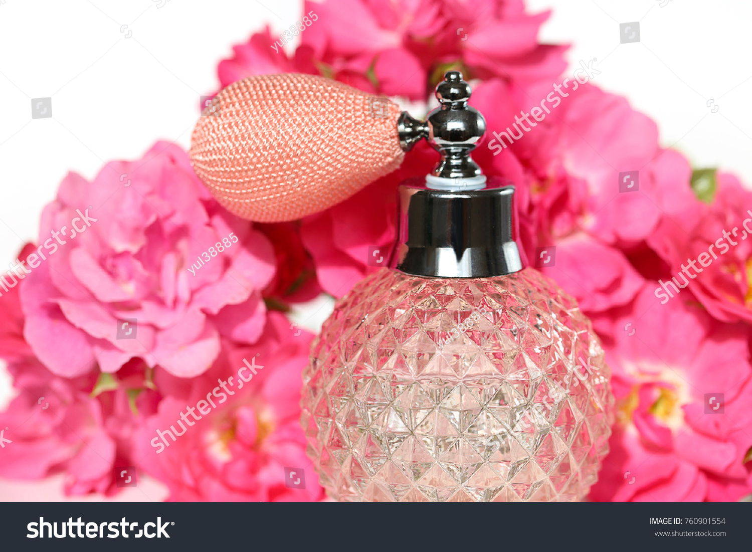 Aroma rose eau de toilette rose stock photo royalty free 760901554 eau de toilette with a rose scent and flowers pink roses izmirmasajfo
