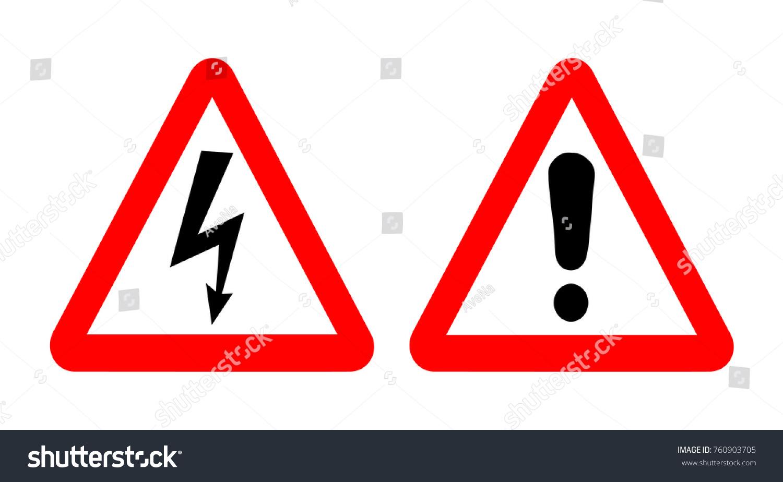 High Voltage Warning Signs Emergency Symbols Stock Illustration ...