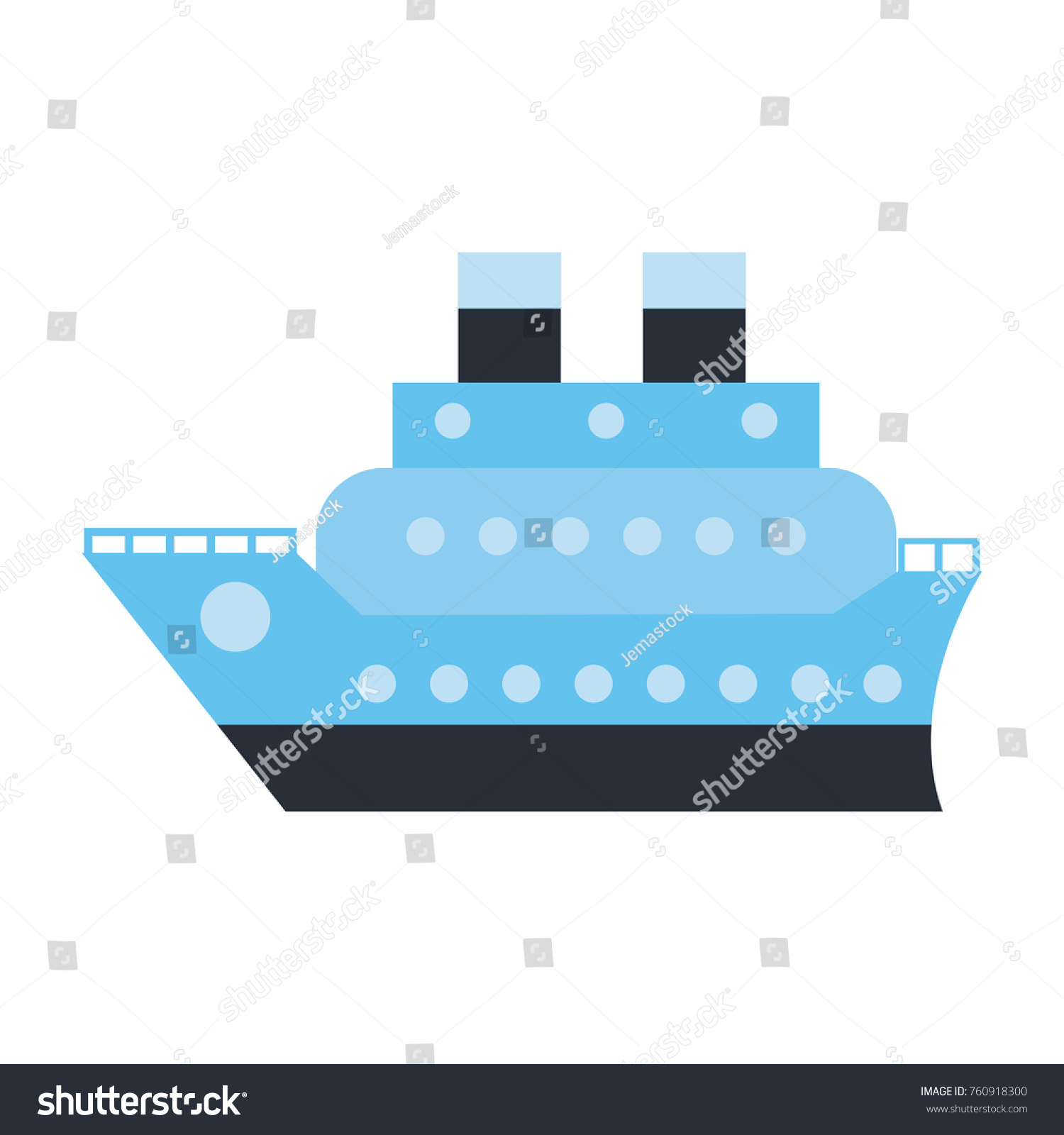 Cruise Ship Symbol Stock Vector Royalty Free 760918300 Shutterstock
