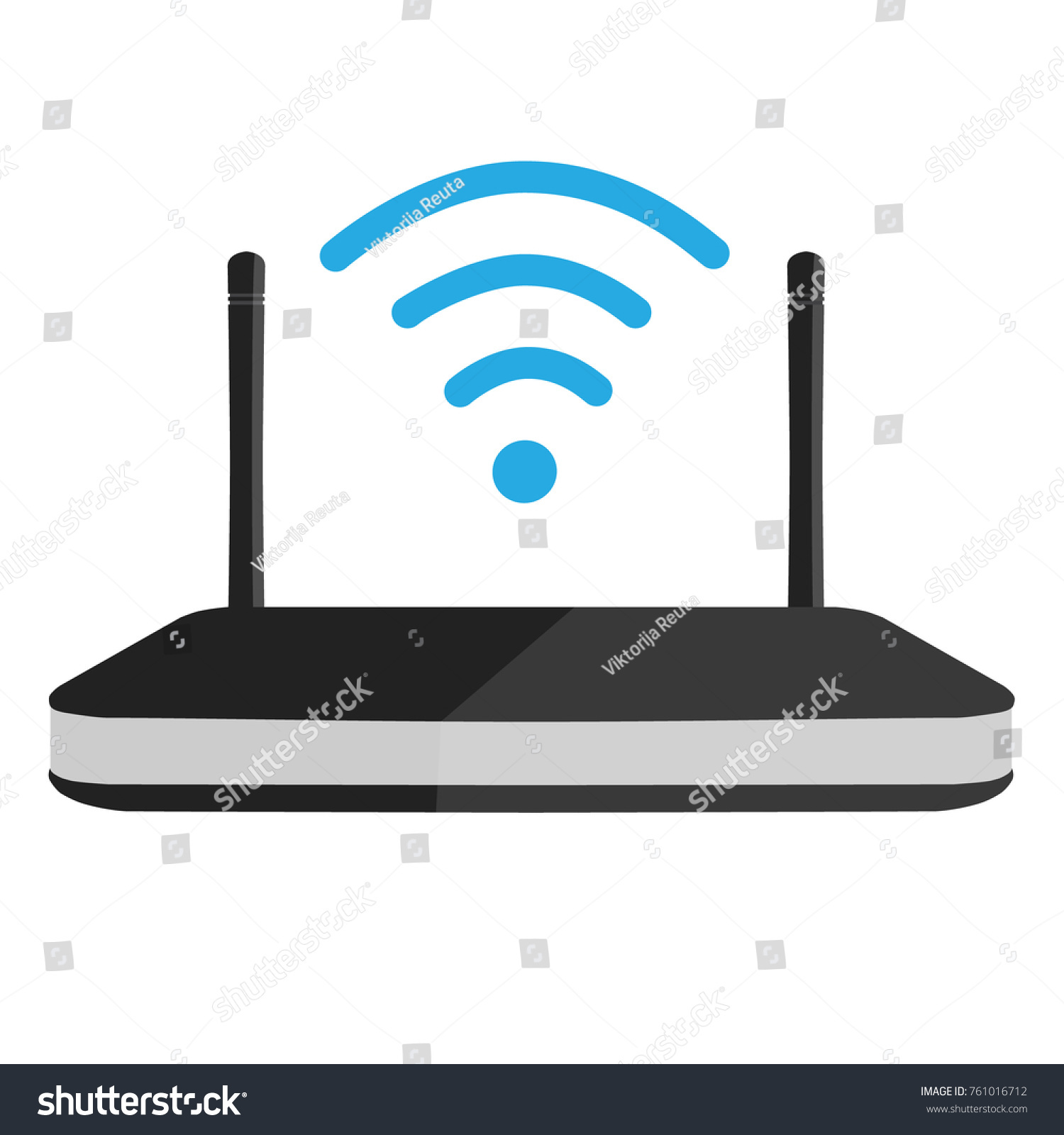 Royalty Free Stock Illustration Of Raster Illustration Wifi Router
