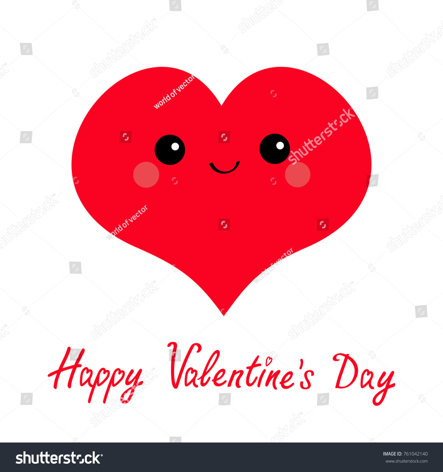Happy Valentines Day Sign Symbol Red Stock Vector Royalty Free