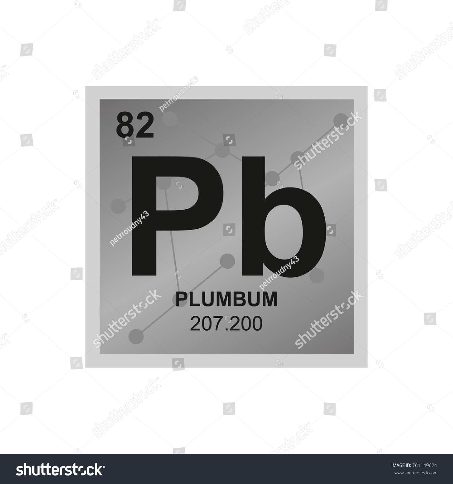 Symbol for lead on periodic table choice image periodic table images vector symbol lead periodic table elements stock vector 761149624 vector symbol of lead from the periodic gamestrikefo Gallery