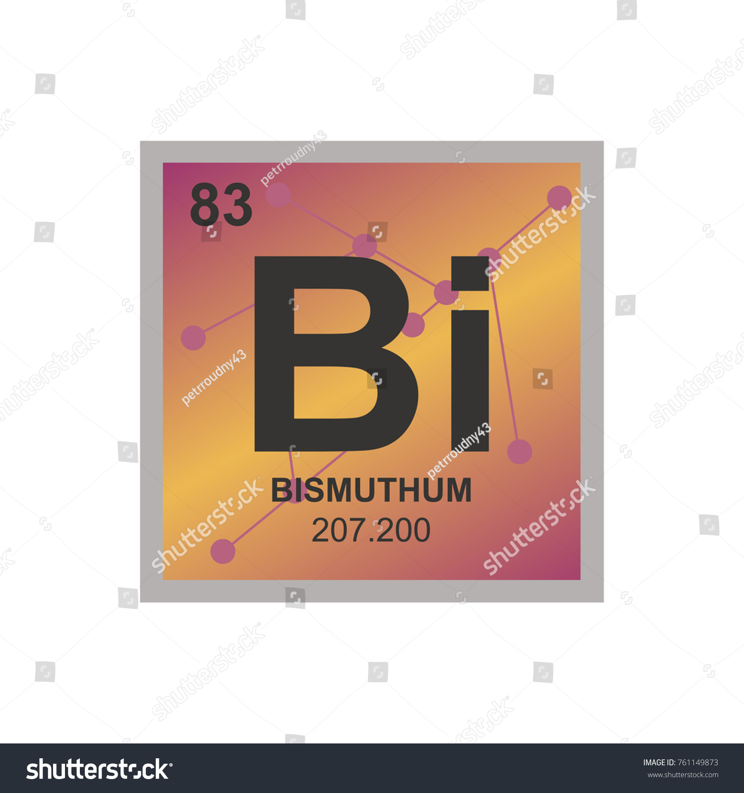 Vector symbol bismuth periodic table elements stock vector vector symbol of bismuth from the periodic table of the elements on the background from connected gamestrikefo Image collections