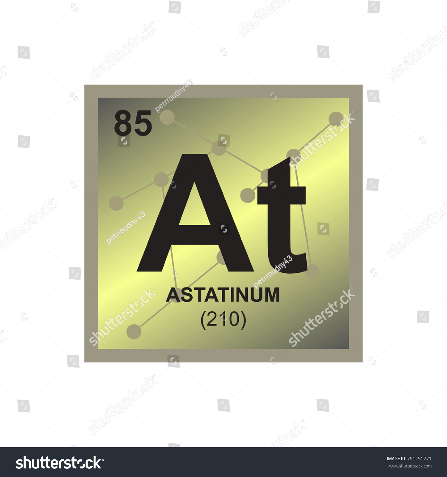 Vector symbol astatine periodic table elements stock vector vector symbol of astatine from the periodic table of the elements on the background from connected gamestrikefo Image collections