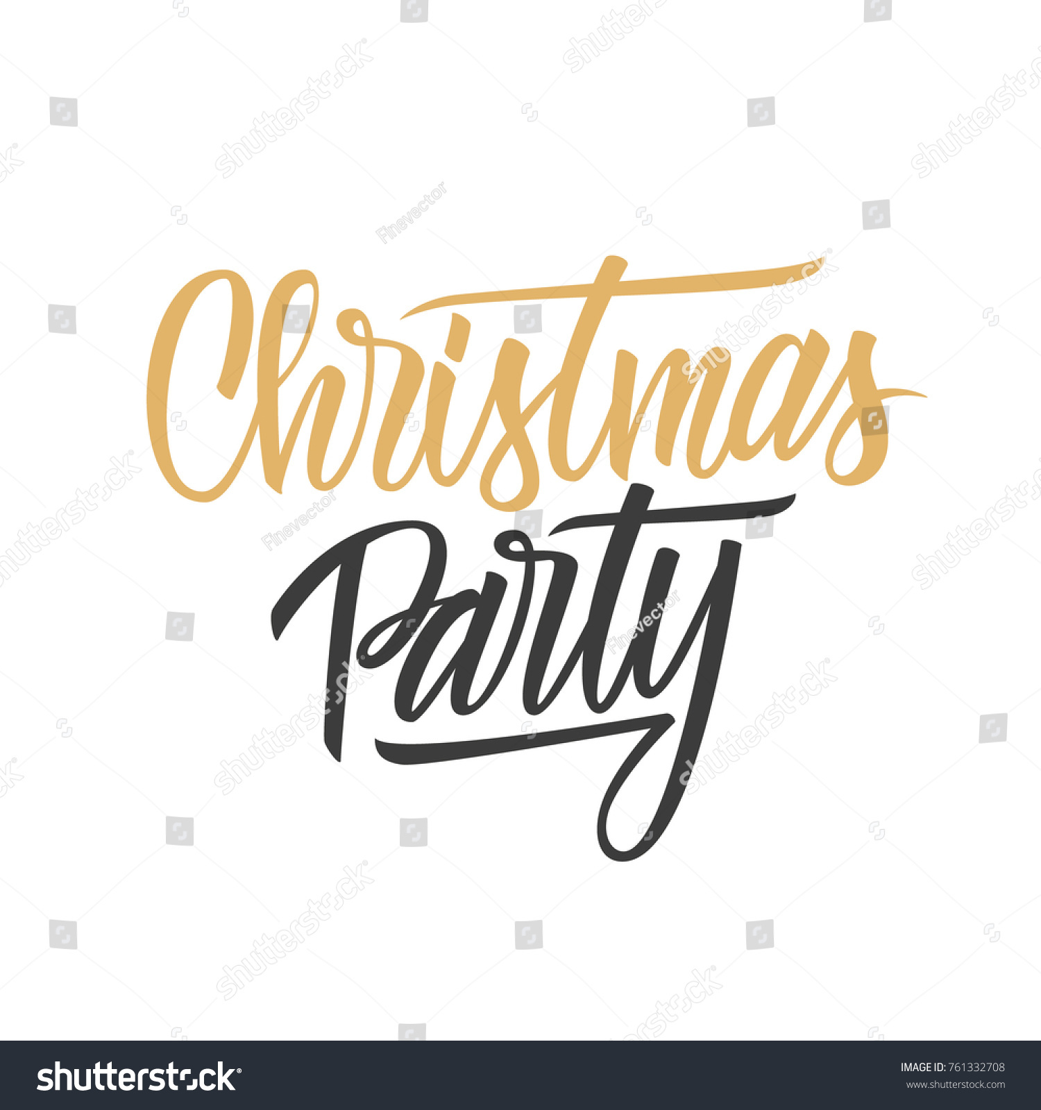 Christmas party hand lettering text design stock vector 761332708 christmas party hand lettering text design card template creative typography for holiday greetings and invitations kristyandbryce Choice Image