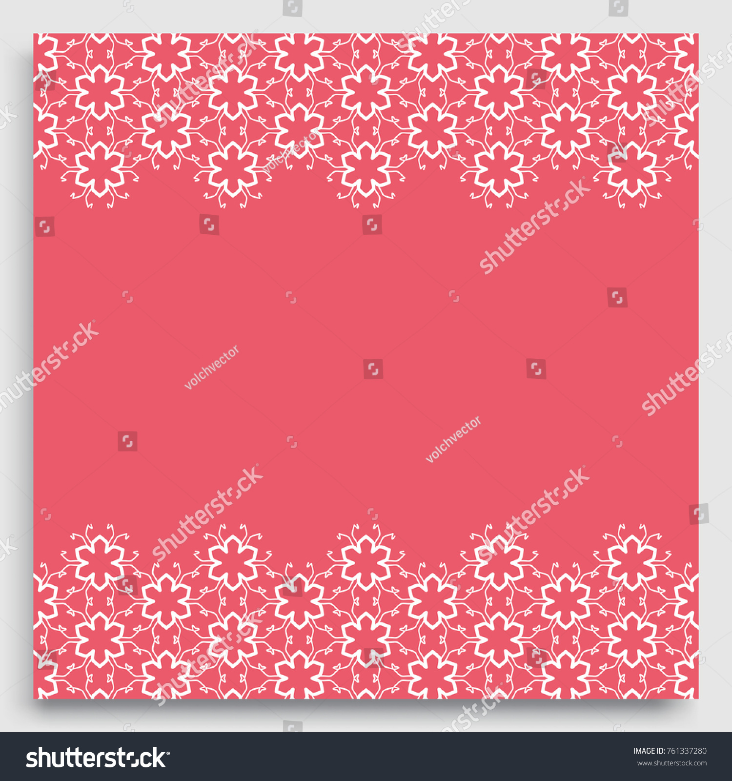 Greeting Card Wedding Invitation Template Lace Stock Vector (Royalty ...