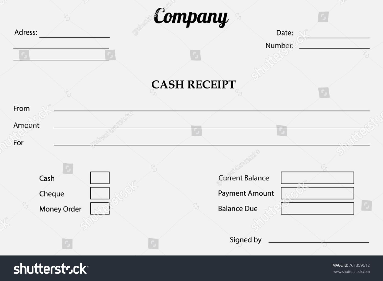Vector paper check cash receipt bill stock vector 761359612 vector paper check cash receipt or bill template altavistaventures Images