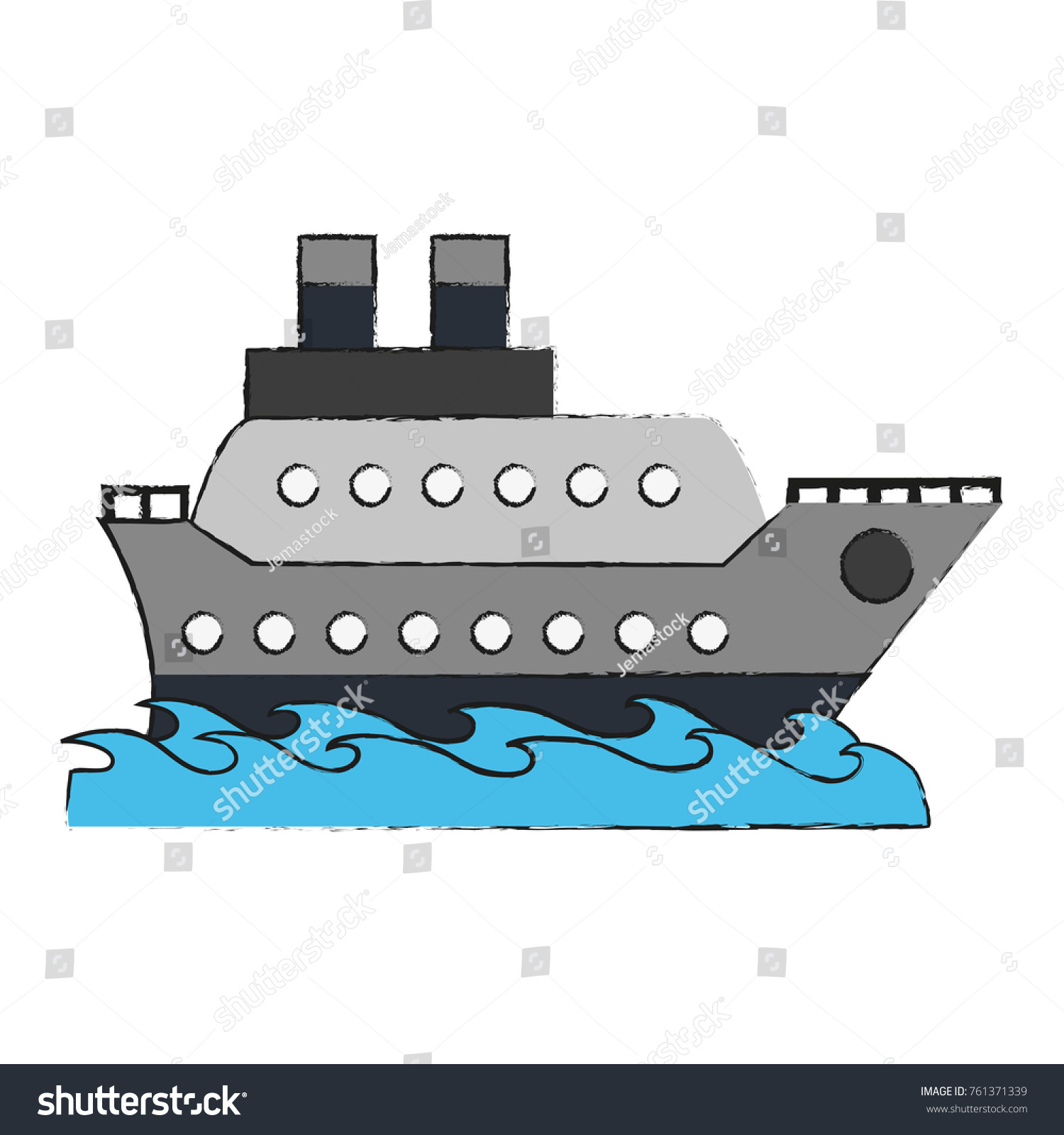 Cruise ship symbol stock vector 761371339 shutterstock cruise ship symbol buycottarizona