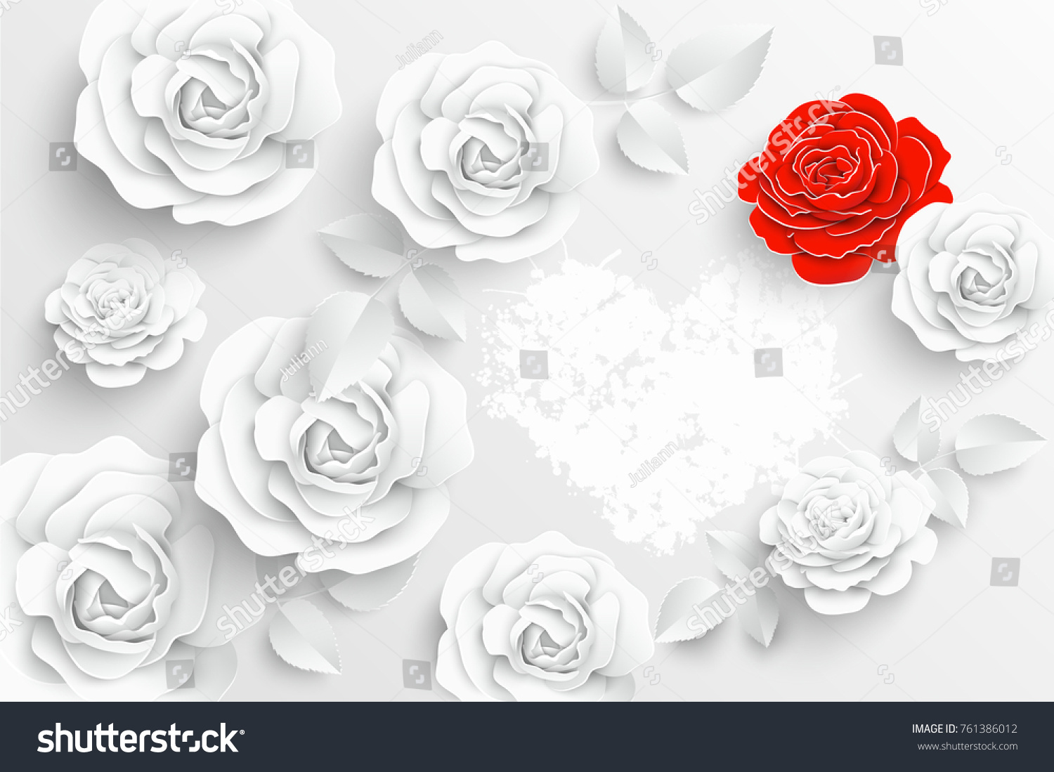 Rolled Paper Roses Template 1916876 Hitori49fo