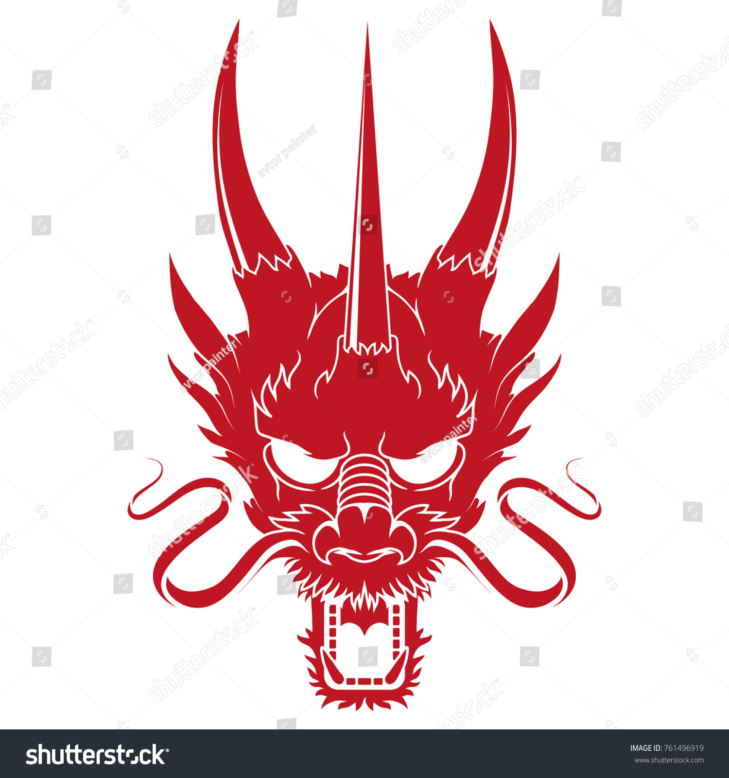Traditional Chinese Dragon Chinese Dragon Logo Stock Vector