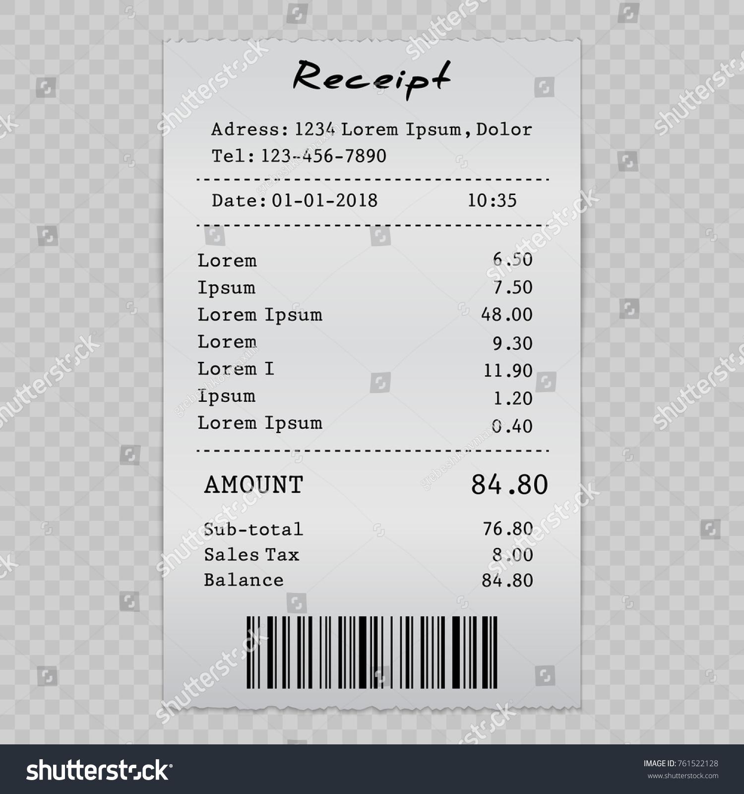 vector paper check sell receipt bill のベクター画像素材