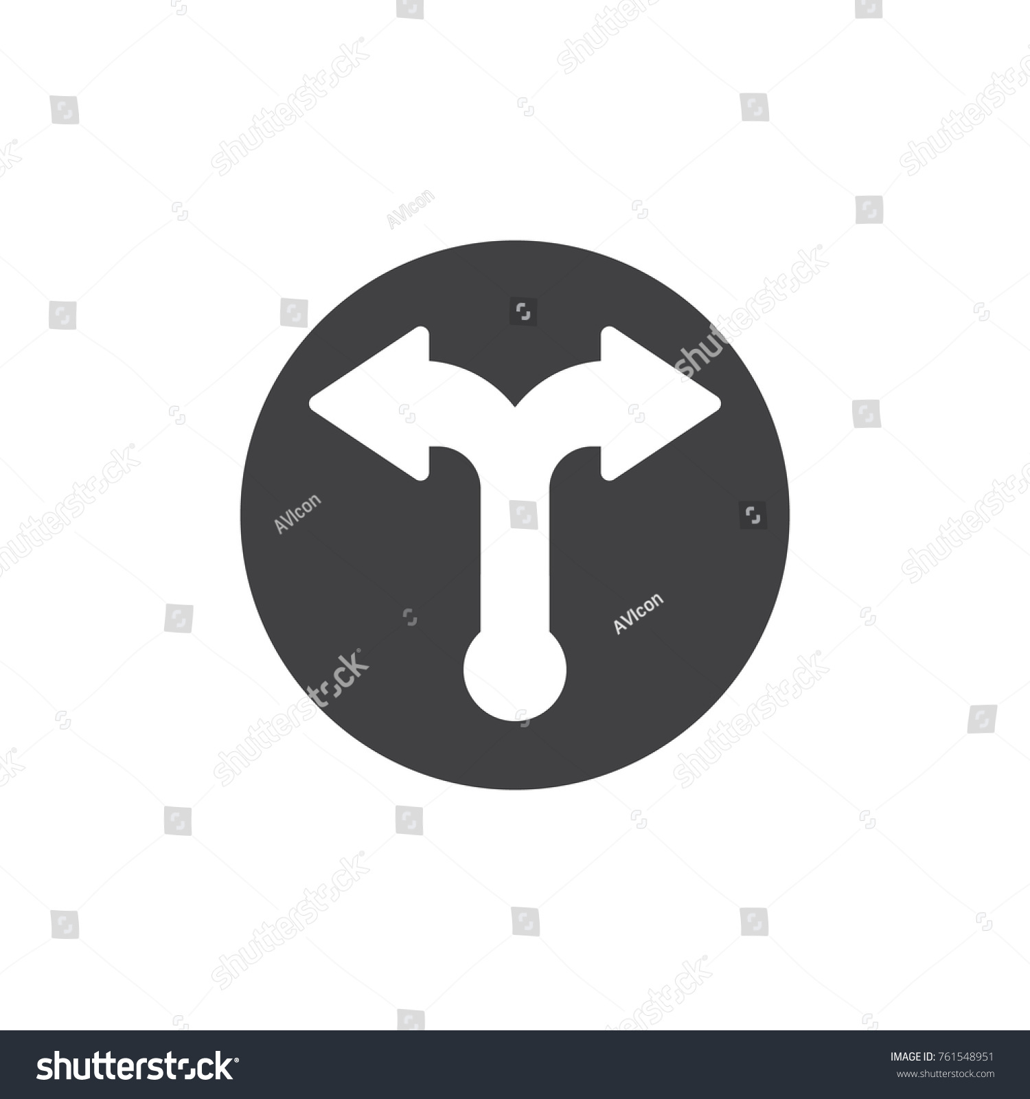 Two Way Arrows Icon Vector Filled Stock Vector Hd Royalty Free