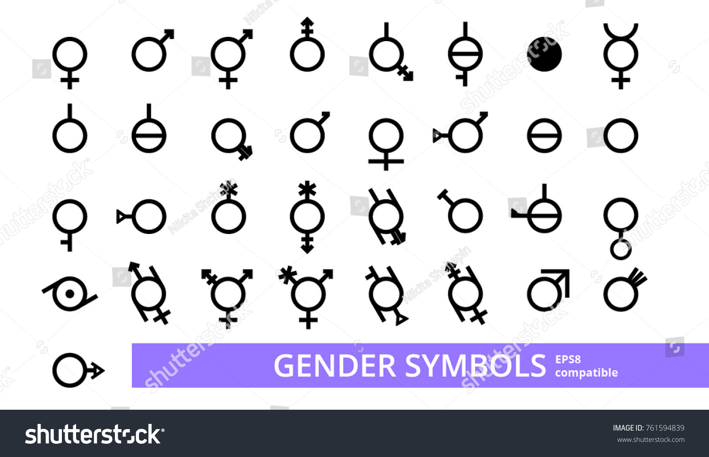 Full collection vectors all gender symbols stock vector 761594839 full collection of vectors of all gender symbols eps 8 eps 10 biocorpaavc Gallery