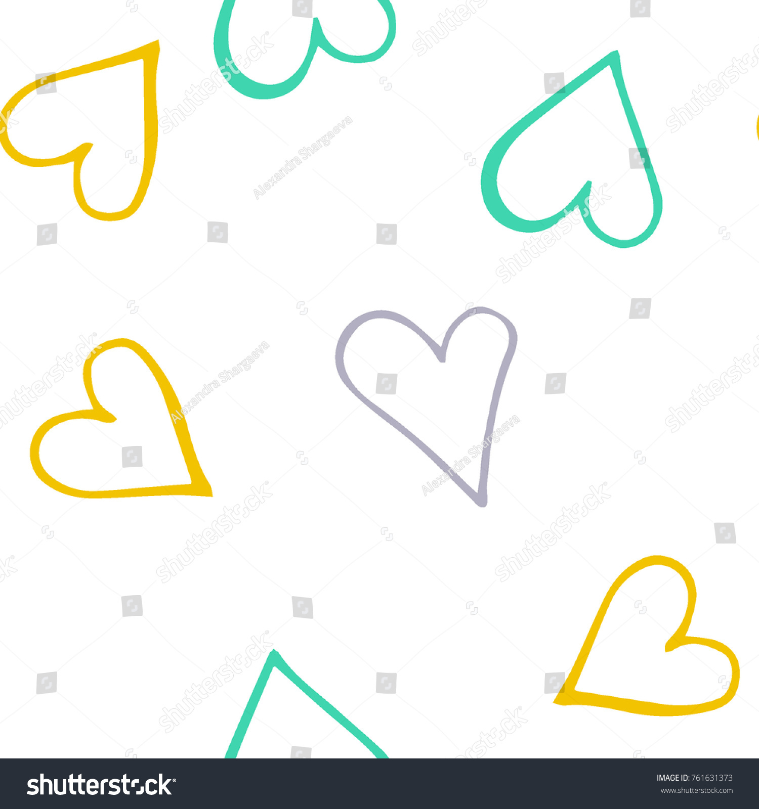 Black hearts seamless pattern scattered little stock vector black hearts seamless pattern scattered little gray yellow green love symbols endlessly buycottarizona Images